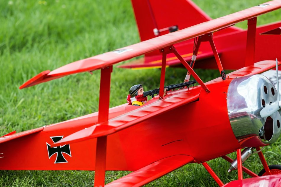Red remote control plane in the field