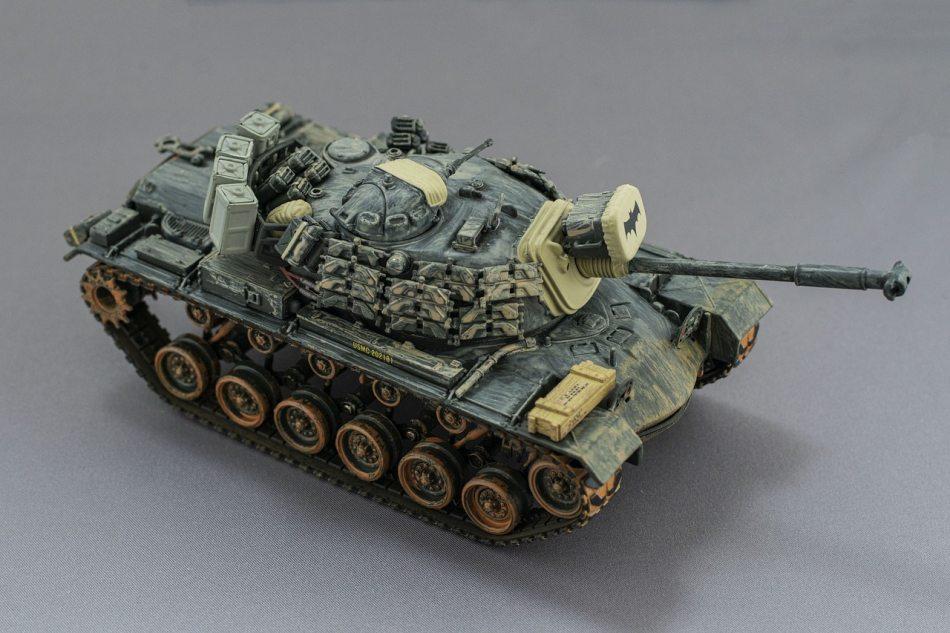 Tank model photoshoot
