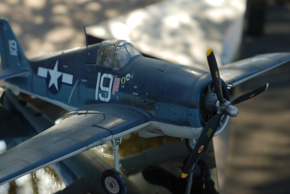 Model airplane blue color