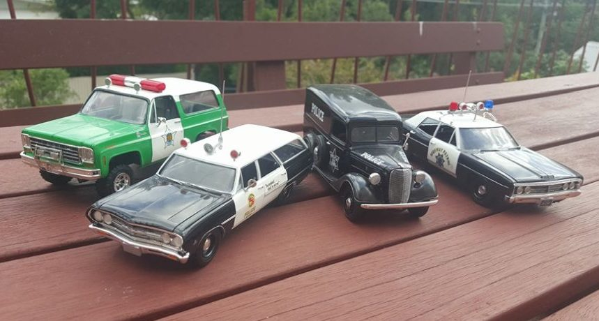 Four different Police car models