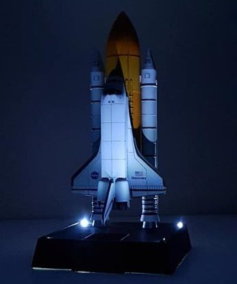 Spaceship and space rocket ready to be launched.